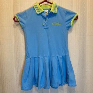 Adidas girls size 5 blue tennis dress